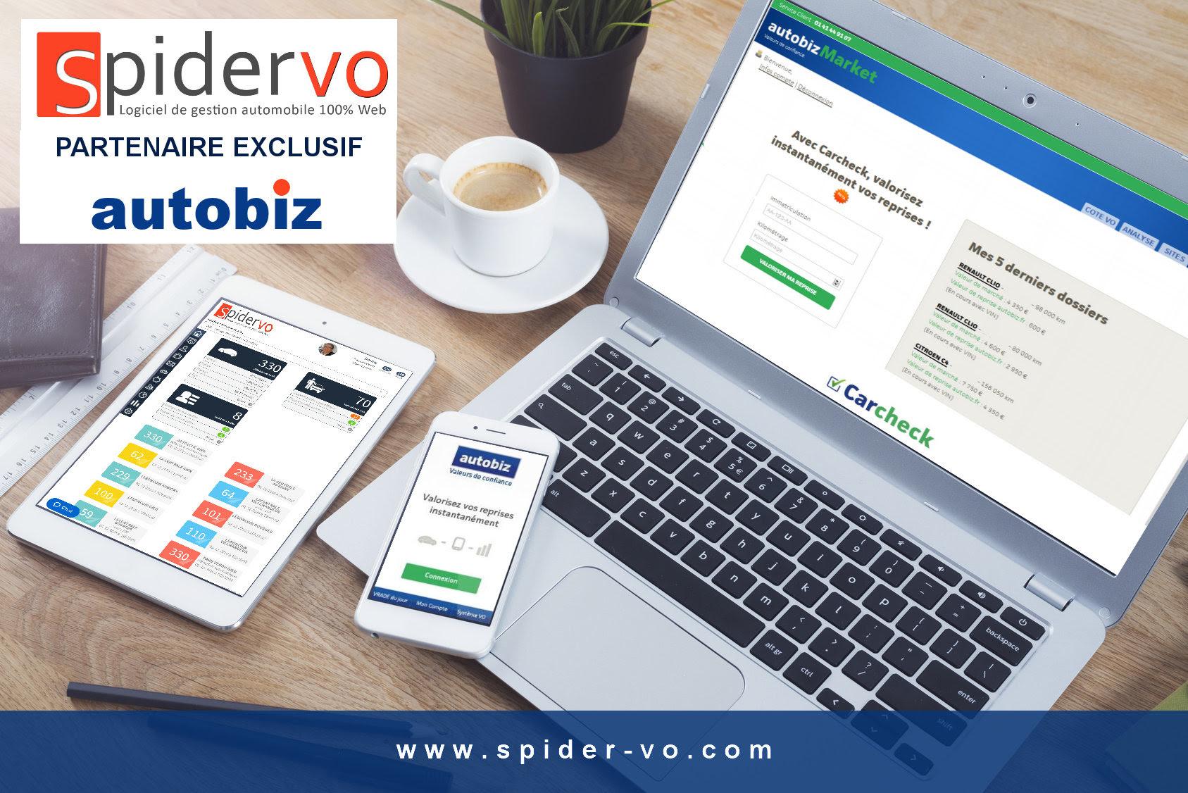 SPIDER VO & AUTOBIZ  unissent leurs forces pour répondre à tous les besoins IT des professionnels VO 1