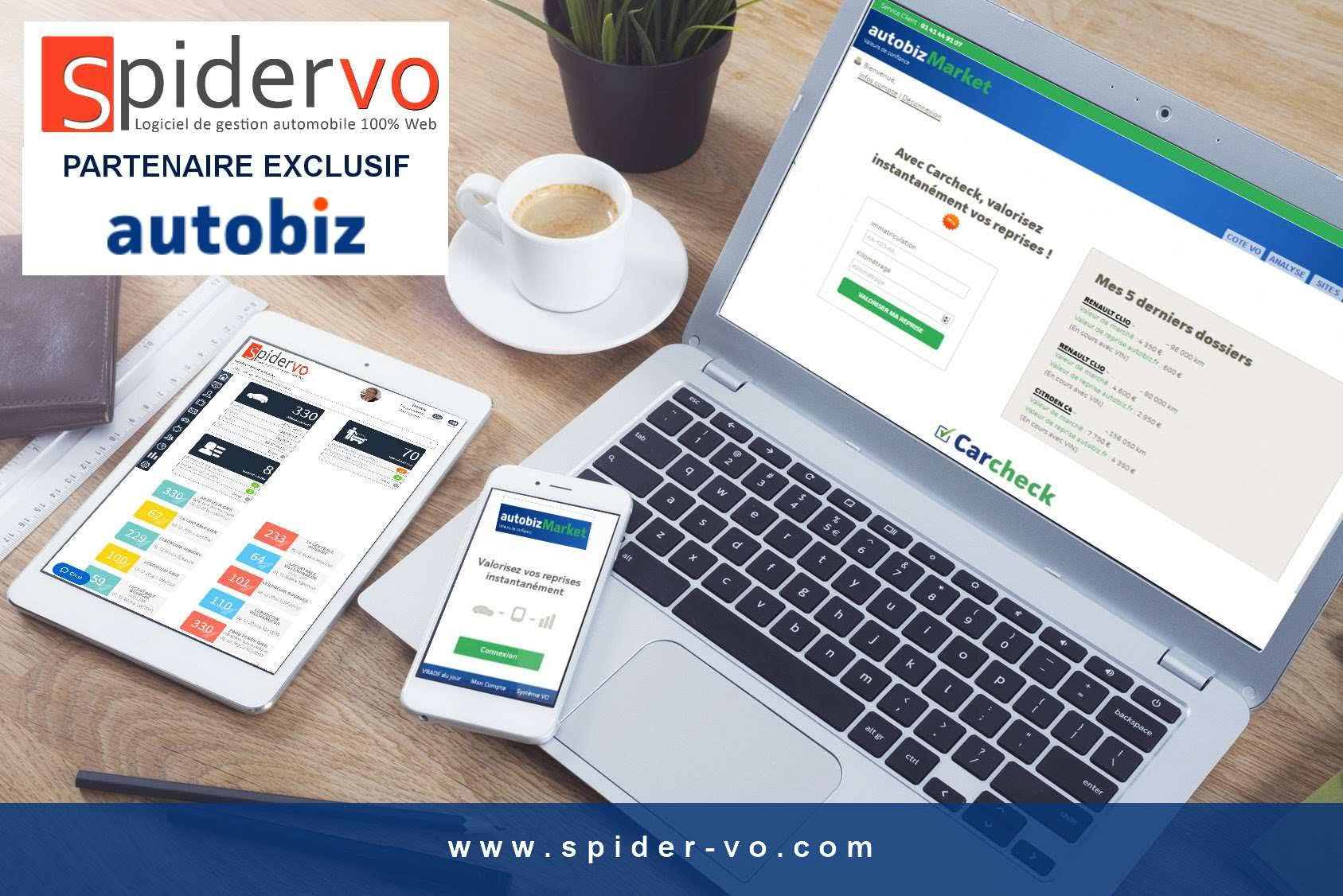 SPIDER VO & AUTOBIZ  unissent leurs forces pour répondre à tous les besoins IT des professionnels VO
