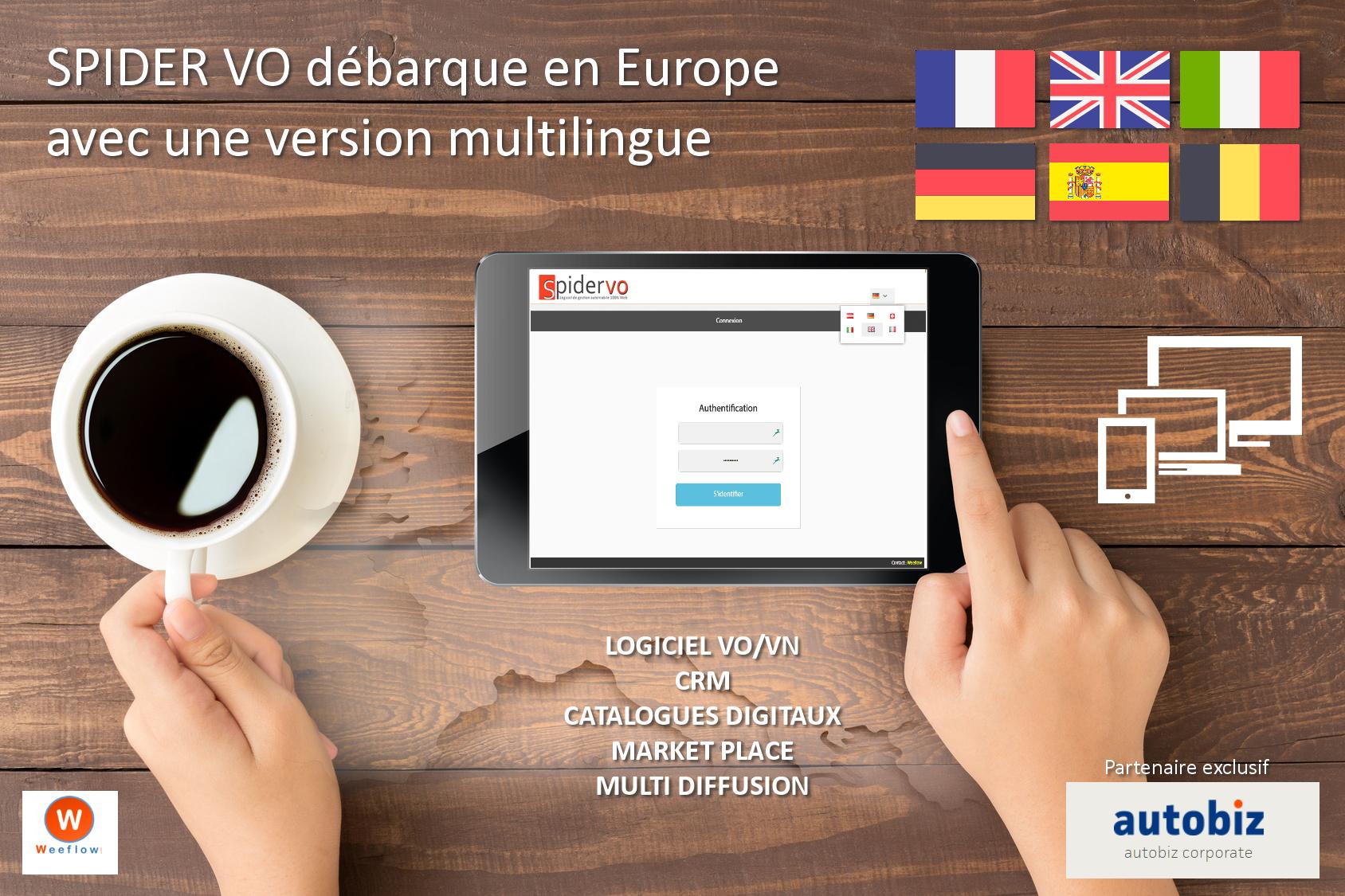 SPIDER VO débarque en Europe avec une version multilingue !