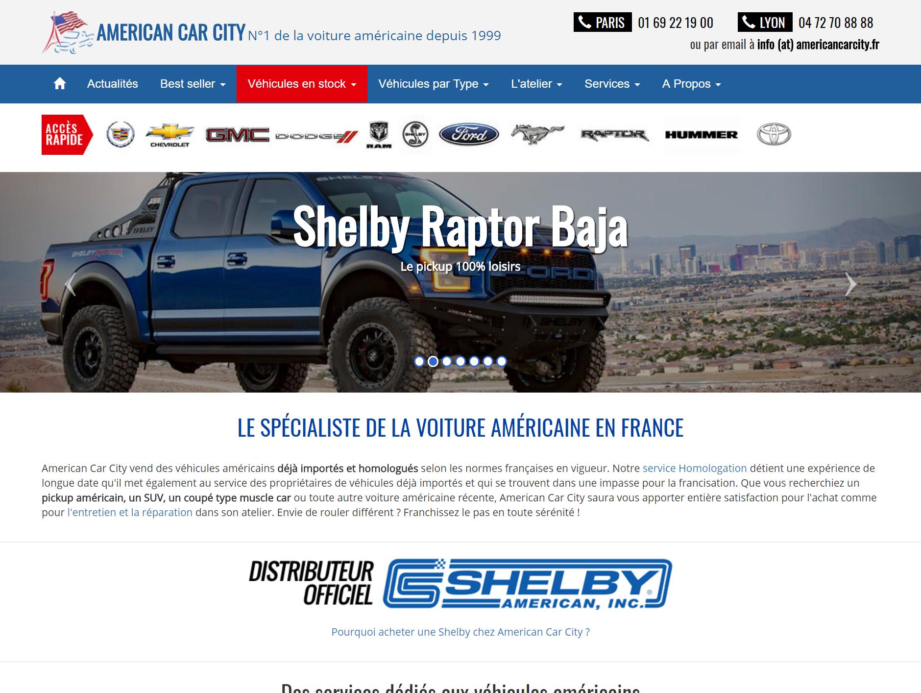 AMERICAN CAR CITY, leader de la vente de voitures américaines passe à SPIDER VO !